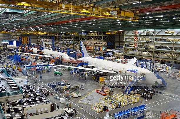 Everett WA File photo taken in August 2011 shows 787 Dreamliner jets being produced by US aircraft maker Boeing Co at its factory in Everett in the...