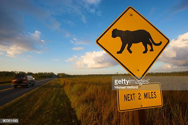 Panther crossing sign.