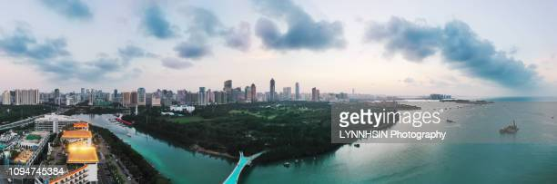 evergreen city haikou aerial shot - lynnhsin stock pictures, royalty-free photos & images