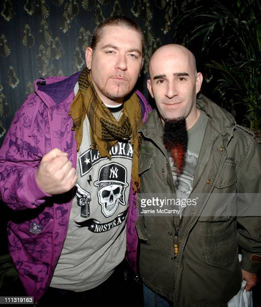 Everlast and Scott Ian of Anthrax during The Grand Opening of Retox Rock Bar at Retox Rock Bar in New York City New York United States