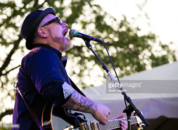 Everlast performs during the Stars and Stripes Festival at the Freedom Hill Amphitheater on June 30 2013 in Sterling Heights Michigan