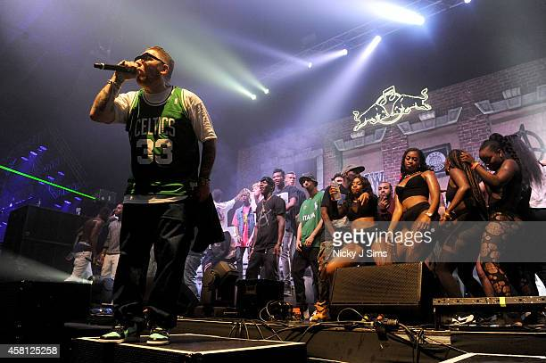 Everlast performs to support A$AP Mob onstage at Red Bull Culture Clash at Earls Court on October 30 2014 in London England