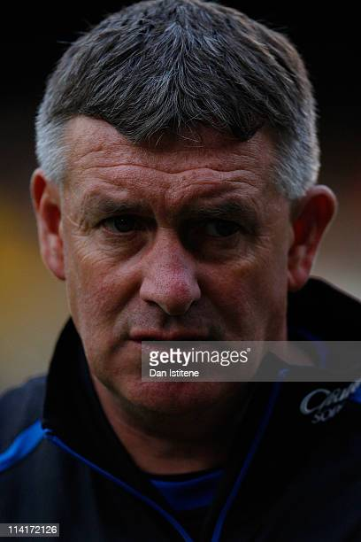 Everton Academy coach Kevin Sheedy looks on before the Premier Academy League Final match between Fulham and Everton at Craven Cottage on May 13 2011...