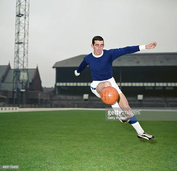 Everton and Wales player Roy Vernon in action at Goodison Park circa 1962 Vernon went on to play 176 times for the toffees scoring over 100 goals