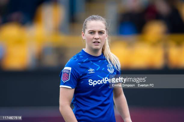 Everton captain Lucy Graham during the Barclays FA Women's Super League match between Everton and Bristol City at Haig Avenue on September 15 2019 in...