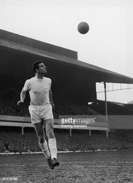 Everton central defender Brian Labone heading the ball during a league game against Ipswich Town at Portman Road, 19th March 1963. Labone also...