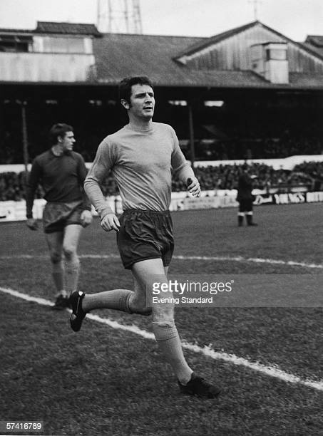 Everton central defender Brian Labone in action for his club against Chelsea at Stamford Bridge, 15th November 1969. Labone also represented England...