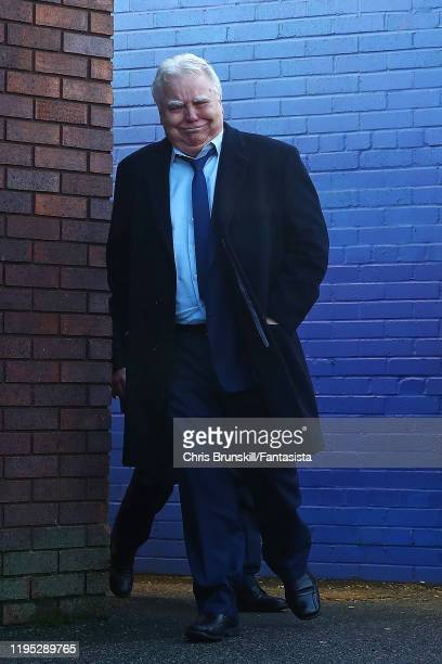 Everton chairman Bill Kenwright arrives ahead of the Premier League match between Everton FC and Arsenal FC at Goodison Park on December 21, 2019 in...