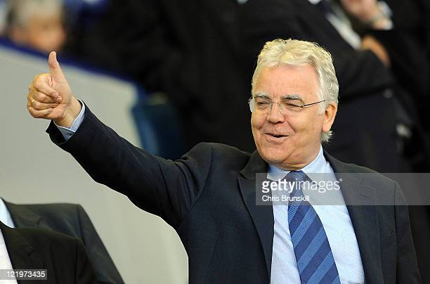 Everton chairman Bill Kenwright gives the thumbs-up during the Carling Cup second round match between Everton and Sheffield United at Goodison Park...