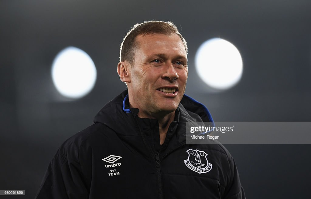 Everton coach Duncan Ferguson looks on prior to the Premier League match between Everton and Liverpool at Goodison Park on December 19, 2016 in Liverpool, England.
