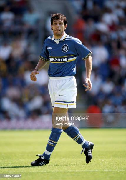 Everton defender Slaven Bilic in action during a pre-season friendly match against Tranmere Rovers at Prenton Park on July 19, 1997 in Liverpool,...