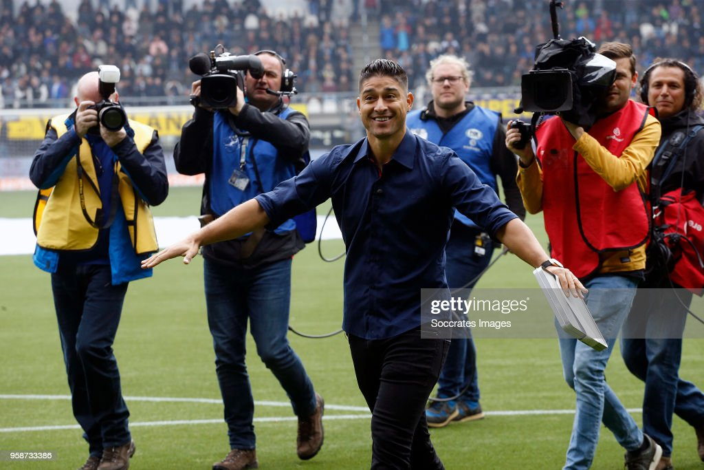 Everton during the Dutch Eredivisie match between Heracles Almelo v FC Utrecht at the Polman Stadium on April 29, 2018 in Almelo Netherlands