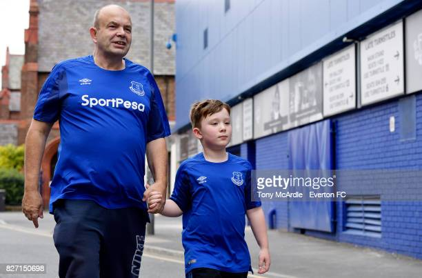 Everton fans before the Pre Season Friendly match between Everton and Sevilla at Goodison Park on August 6 2017 in Liverpool England