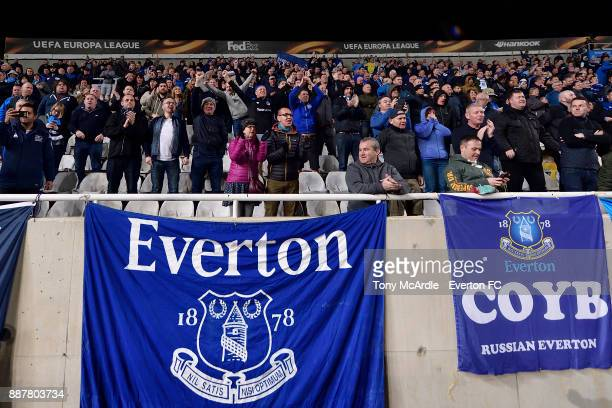 Everton fans during the UEFA Europa League Group E match between Apollon Limassol and Everton at GSP Stadium on December 7 2017 in Nicosia Cyprus