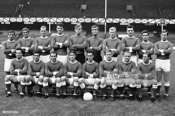 Everton football squad pre season photograph Top row left to right Johnny Morrissey Jimmy Harris Sandy Brown Brian Labone Gordon West Andy Rankin...
