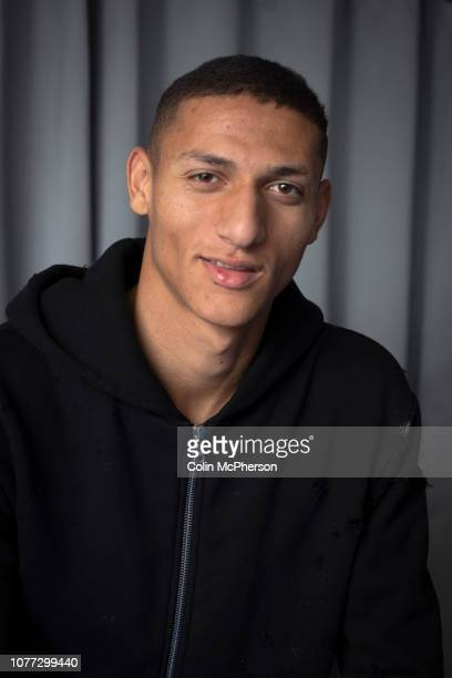 Everton footballer Richarlison pictured at his home on Merseyside which he shares with his agent Renato Velasco The Brazilian forward joined Everton...