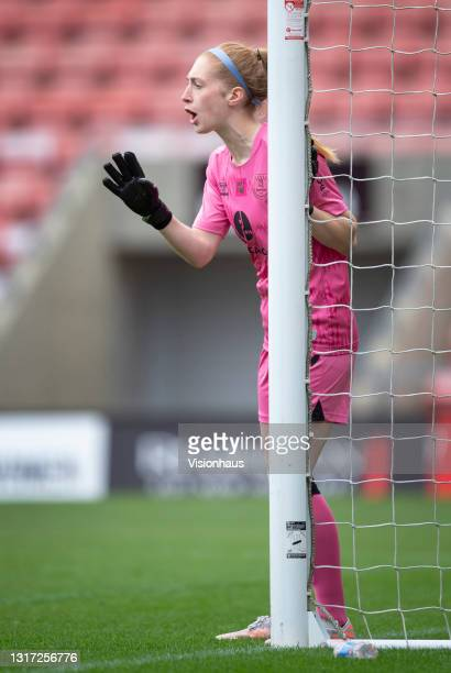 Everton goalkeeper Sandy MacIver during the Barclays FA Women's Super League match between Manchester United Women and Everton Women at Leigh Sports...