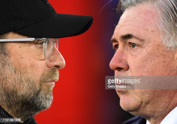 COMPOSITE OF IMAGES Image numbers 11406404991196044186 GRADIENT ADDED In this composite image a comparison has been made between Jurgen Klopp Manager...