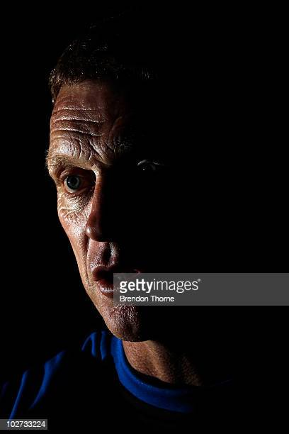 Everton manager David Moyes talks with the media during a player meet and greet at the Sheraton on the Park Hotel on July 9 2010 in Sydney Australia