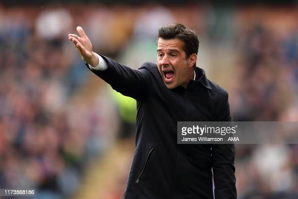 Everton manager / head coach Marco Silva during the Premier League match between Burnley FC and Everton FC at Turf Moor on October 5 2019 in Burnley...