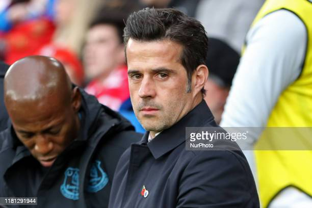 Everton Manager Marco Silva during the Premier League match between Southampton and Everton at St Mary's Stadium, Southampton on Saturday 9th...