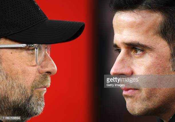 COMPOSITE OF IMAGES Image numbers 11406404991075101536 GRADIENT ADDED In this composite image a comparison has been made between Jurgen Klopp Manager...
