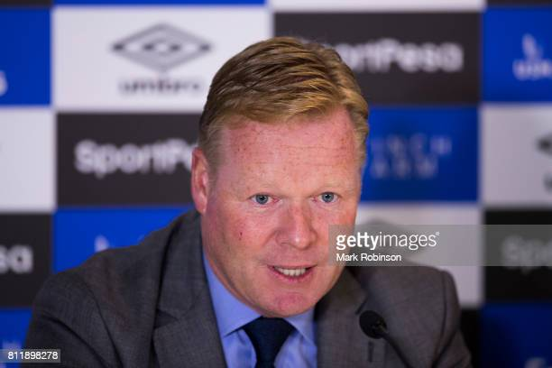 Everton manager Ronald Koeman at a press conference at Goodison Park on July 10 2017 in Liverpool England