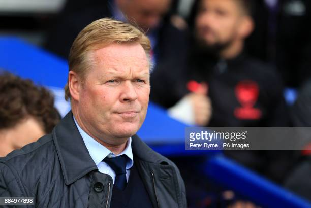 Everton manager Ronald Koeman during the Premier League match at the Goodison Park Liverpool