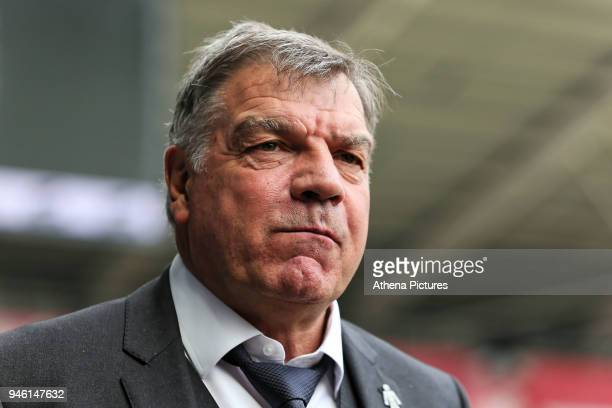 Everton manager Sam Allardyce arrives prior to the game during the Premier League match between Swansea City and Everton at The Liberty Stadium on...