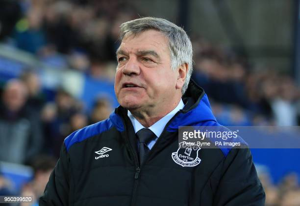 Everton manager Sam Allardyce before during the Premier League match at Goodison Park Liverpool