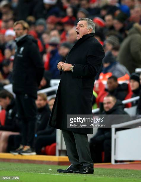 Everton manager Sam Allardyce during the Premier League match at Anfield Liverpool