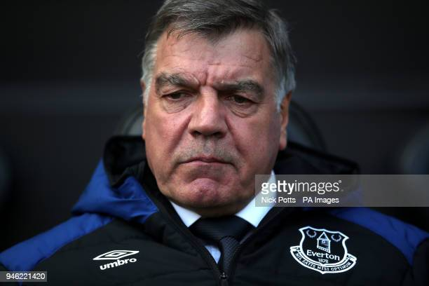 Everton manager Sam Allardyce during the Premier League match at the Liberty Stadium Swansea