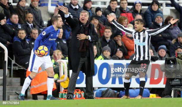 Everton manager Sam Allardyce during the Premier League match between Newcastle United and Everton at St James' Park on December 13 2017 in Newcastle...