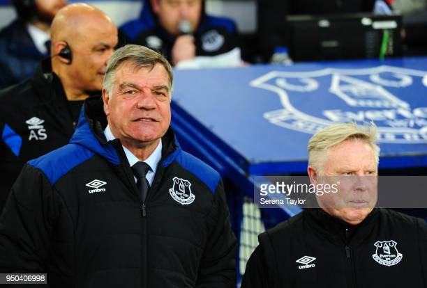 Everton Manager Sam Allardyce during the Premier League Match between Everton and Newcastle United at Goodison Park on April 23 in Liverpool England
