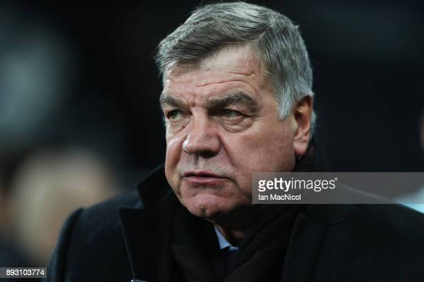 Everton manager Sam Allardyce is seen during the Premier League match between Newcastle United and Everton at St James Park on December 13 2017 in...