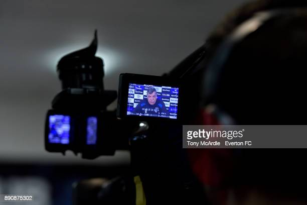 Everton manager Sam Allardyce speaks to the media during the Everton press conference at USM Finch Farm on December 12 2017 in Halewood England