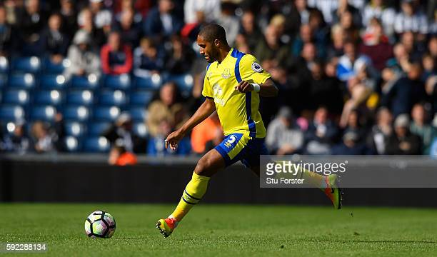 Everton player Ashley Williams in action during the Premier League match between West Bromwich Albion and Everton at The Hawthorns on August 20 2016...
