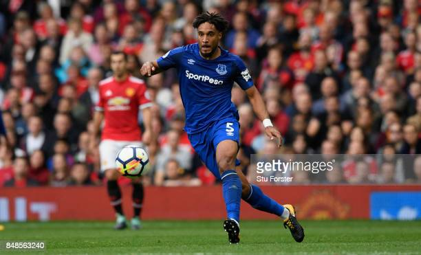 Everton player Ashley Williams in action during the Premier League match between Manchester United and Everton at Old Trafford on September 17 2017...
