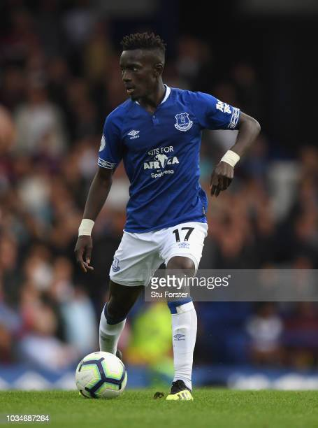 Everton player Idrissa Gana Gueye during the Premier League match between Everton FC and West Ham United at Goodison Park on September 16 2018 in...