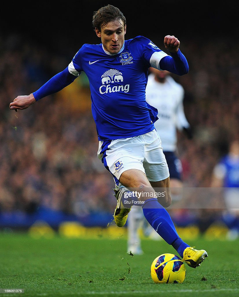 Everton player Nikica Jelavic in action during the Barclays Premier between Everton and Tottenham Hotspur at Goodison Park on December 9, 2012 in Liverpool, England.