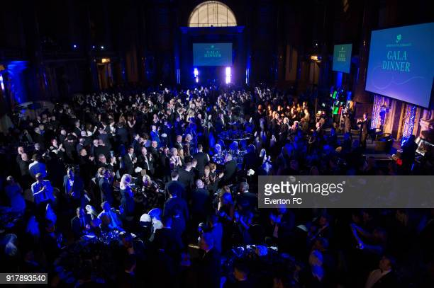Everton players arrive for the Everton in the Community Gala Dinner at St Georges Hall on February 13 2018 in Liverpool England