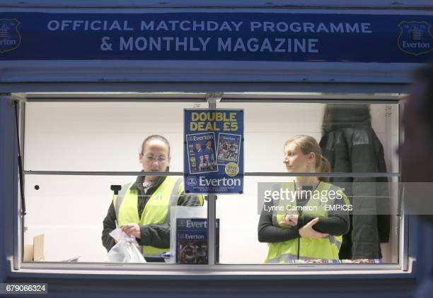 Everton Programme sellers at Goodison Park