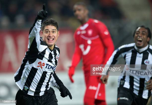Everton Ramos da Silva of Heracles Almelo during the Dutch Eredivisie match between FC Twente and Heracles Almelo at the Grolsch Veste on February 10...