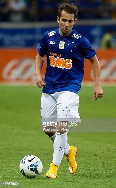 Everton Ribeiro of Cruzeiro in action during a match between Cruzeiro and Palmeiras as part of Brasileirao Series A 2014 at Mineirao Stadium on...
