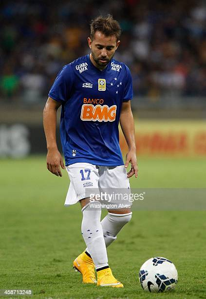 Everton Ribeiro of Cruzeiro in action during a match between Cruzeiro and Criciuma as part of Brasileirao Series A 2014 at Mineirao Stadium on...