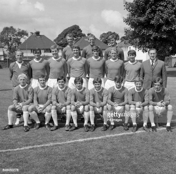 Everton squad for the 1969/70 season Jeff Barnett Gordon West and Andy Rankin Wilf Dixon John Hurst Joe Royle Brian Labone Roger Kenyon Alex Brown...