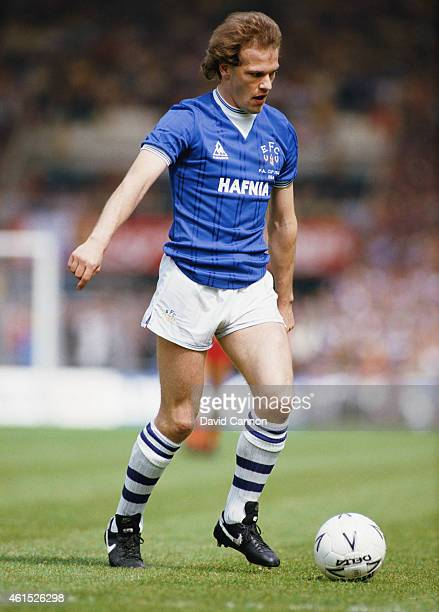 Everton striker Andy Gray in action during the 1984 FA Cup Final between Everton and Watford at Wembley on May 19 1984 in London England