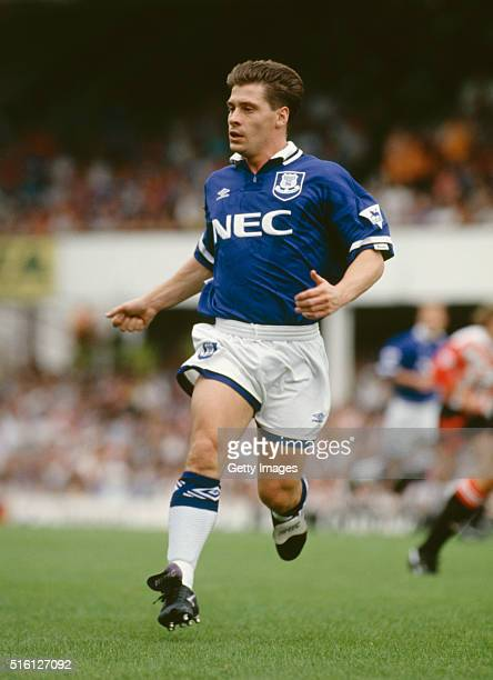 Everton striker Tony Cottee in action during a FA Premier League match between Southampton and Everton at The Dell on August 14 1993 in Southampton...