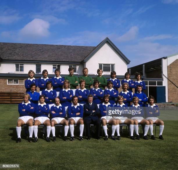 Everton team group John Smith Dave Irving Peter Scott Dai Davies Gordon West David Lawson Gary Jones George Telfer Billy Kenny Stewart Inlach John...