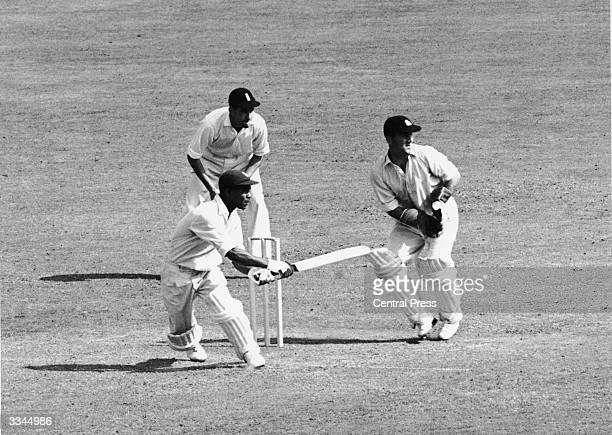 Everton Weekes batting for the West Indies during the Third Test against England at Trent Bridge in Nottingham 22nd July 1950